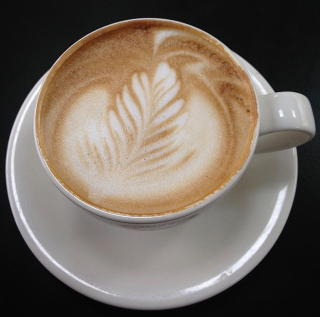 Frothy cup of cappuccino