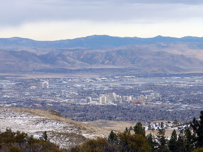 View of reno from the northwest