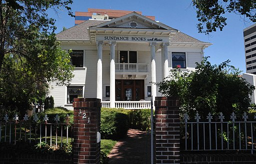 front exterior of levy mansion and sundance books