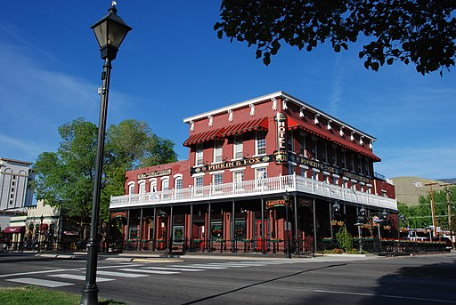 exterior st. Charles-Muller's hotel, carson city