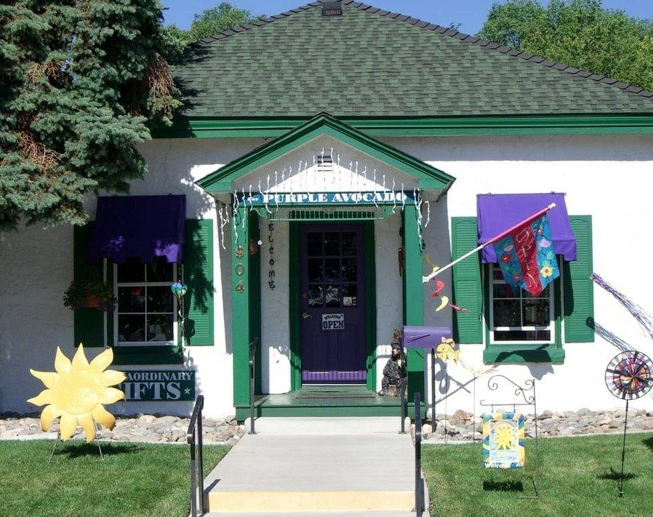exterior of purple avocado gift shop