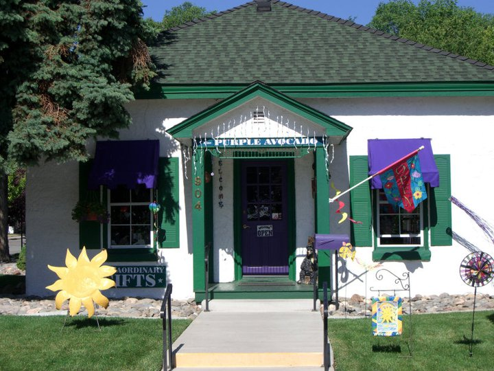 exterior purple avocado gift shop