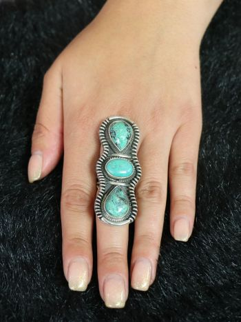 The Melting Pot World Emporium & Smoke Shop, Turquoise and Sterling Ring