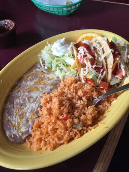 El Adobe Café, Beef or Chicken Tacos